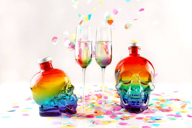 Crystal Head have released two sizes of a very special Pride inspired bottles