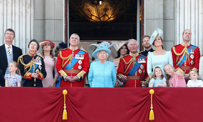Members of the Royal Family will gather on the balcony of Buckingham Palace at the Trooping the Colour parade