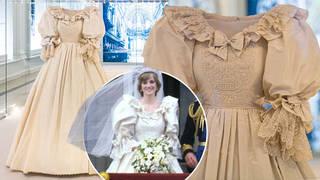 Princess Diana's wedding dress looks glorious on display at Kensington Palace