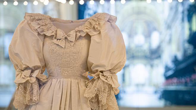 Princess Diana's wedding gown was designed by David and Elizabeth Emanuel