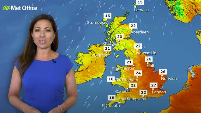 The Met Office has said that the rising temperatures could move into 'heatwave' territory