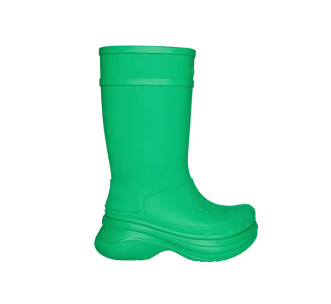 Balenciaga is also released knee high crocs