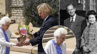 The Queen was presented with a special rose bred