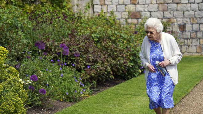 The Queen explored the gardens