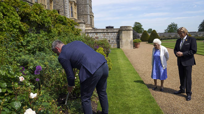 A rose was planted for Prince Philip