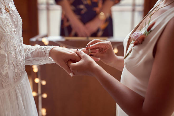 Currently, only 30 guests can attend weddings (stock image)