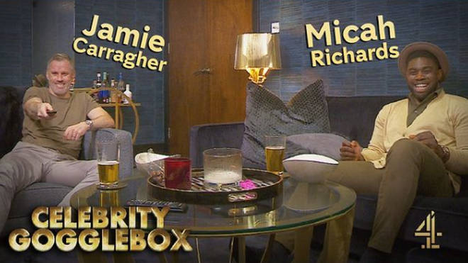Jamie Carragher and Micah Richards are on Celebrity Gogglebox