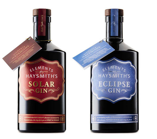The two gins are each inspired by a different celestial element