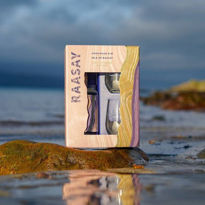 The gin is distilled on a tiny Scottish island using locally sourced botanicals