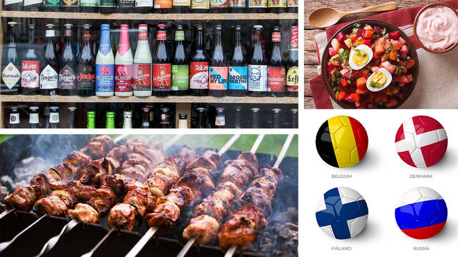 Beers, kebabs and beetroot salad - welcome to the tastes of Group B