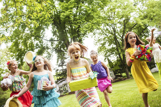 The dad threw a garden party for his seven-year-old daughter (stock image)