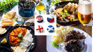 Try some of the national meals of England, Scotland, Croatia and Czech Republic!