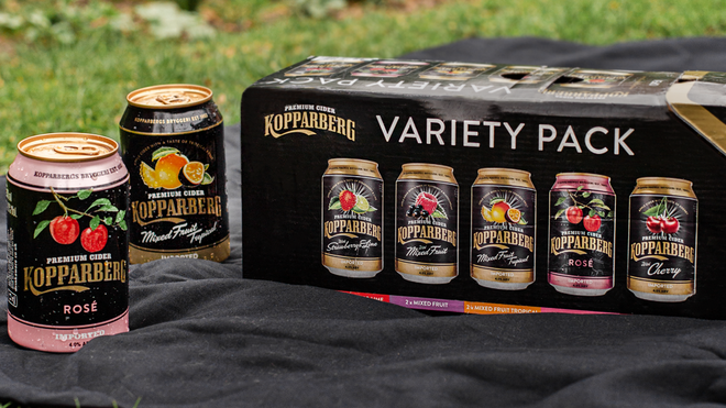Take a multipack of Swedish fruit cider to your Group E get together