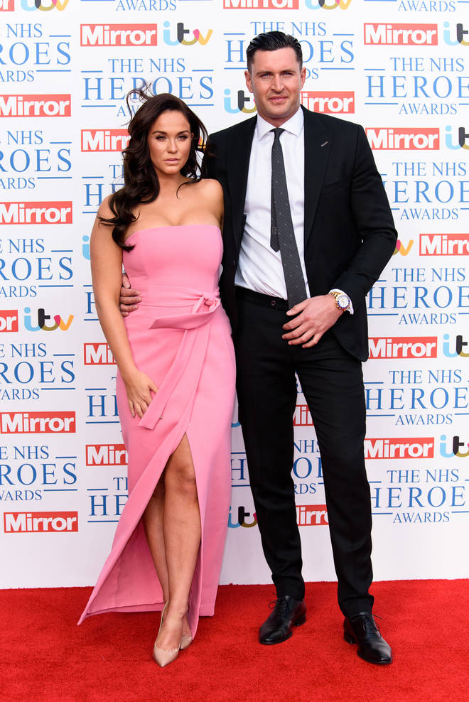 Vicky Pattison pictured with John Noble in May this year