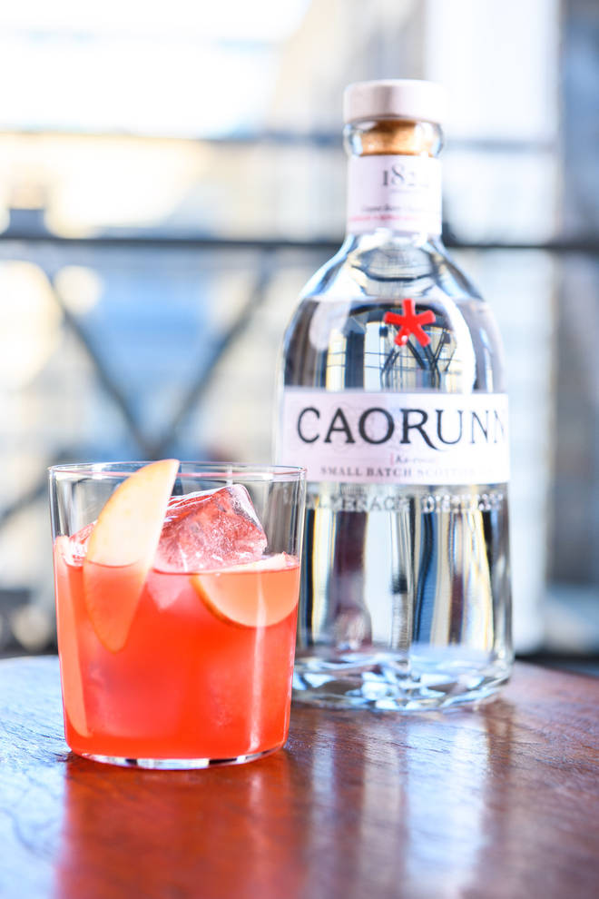 This is a refreshing twist on a G&T using delicious seasonal raspberries