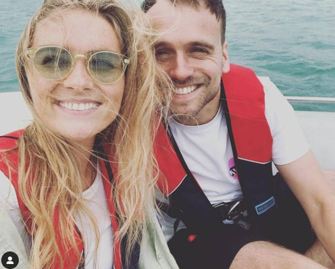 Chelsea Halfpenny wished James Baxter a happy 30th birthday