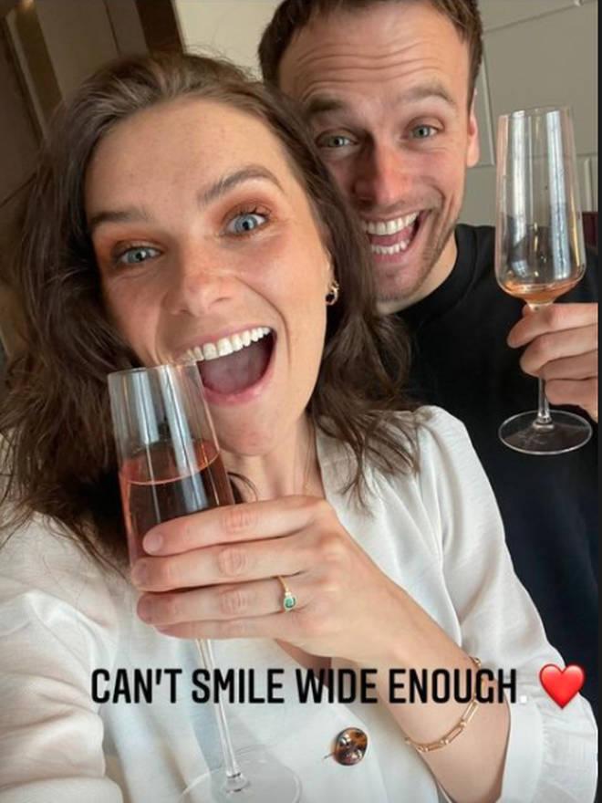 James Baxter shared his engagement news