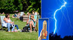 Thunderstorms look set to sweep the UK this week (stock images)