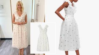 Holly Willoughby's dress is from Kate Spade today
