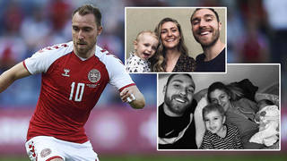 Christian Eriksen and his wife have been together for nine years and have two children together