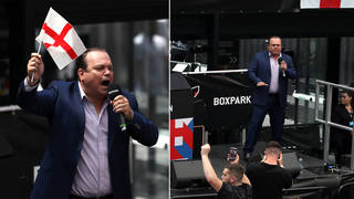 Shaun Williamson sung the national anthem over the weekend