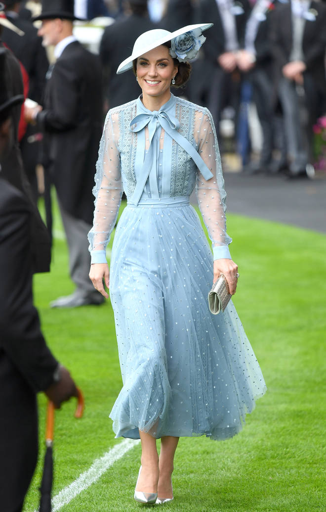 Kate Middleton dressed in head-to-toe Ellie Saab for Royal Ascot in 2019