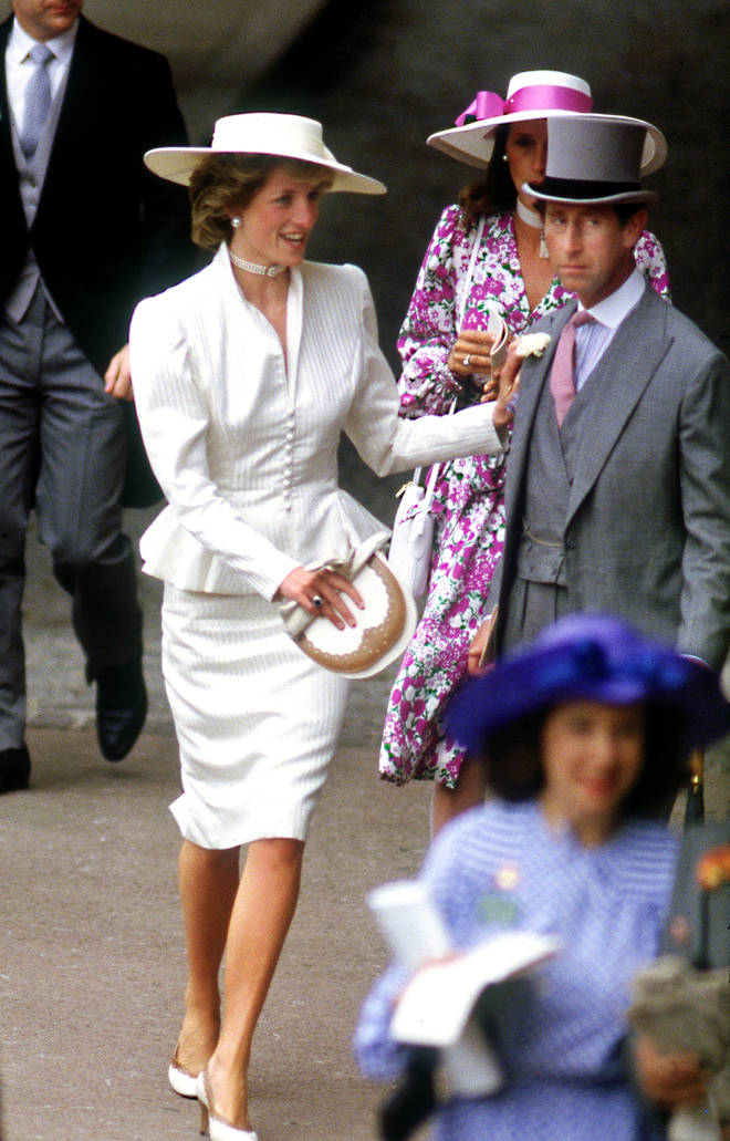 Princess Diana looked incredible in this tailored skirt and peplum jacket