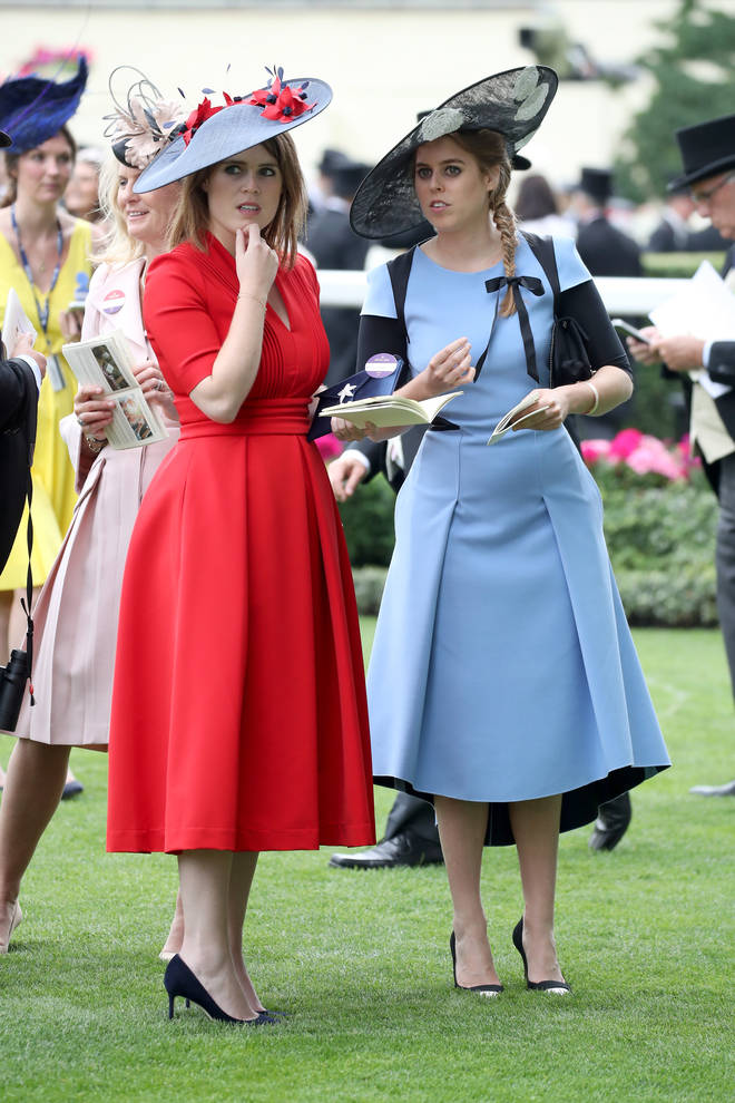 Beatrice and Eugenie co-ordinated their outfits for Royal Ascot in 2017