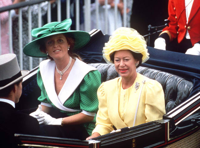 Sarah Ferguson's wore green polka dots and this magnificent hat in 1987