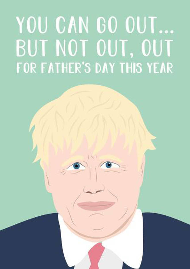 Boris Johnson-themed Father's Day cards