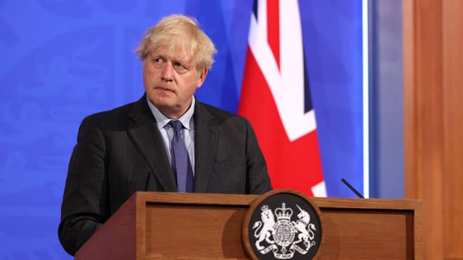 Boris Johnson held a press conference on Monday