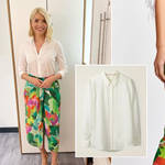 Holly Willoughby's skirt is from Essentiel Antwerp