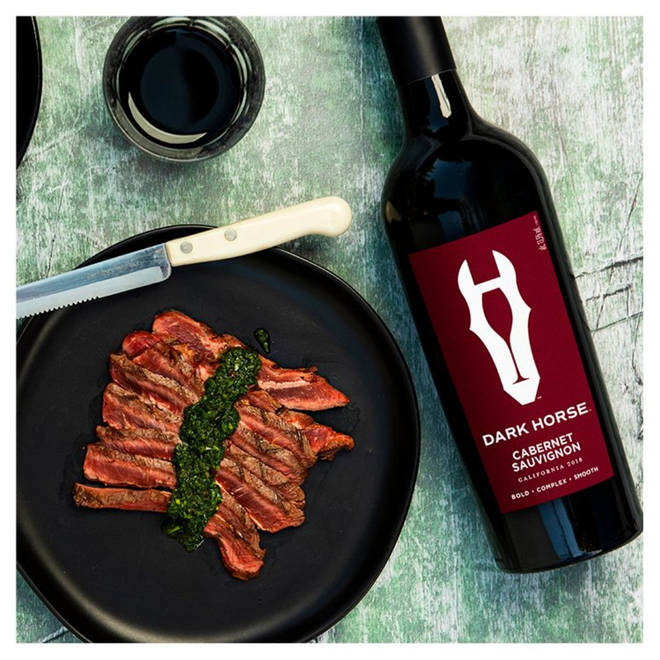 This bold red goes well with meat like steak and burgers