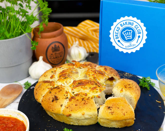 The cheese and garlic tear and share bread is so fun and easy to make - and it tastes divine!