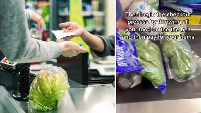 The shopper shared the hack to TikTok (left: stock image)