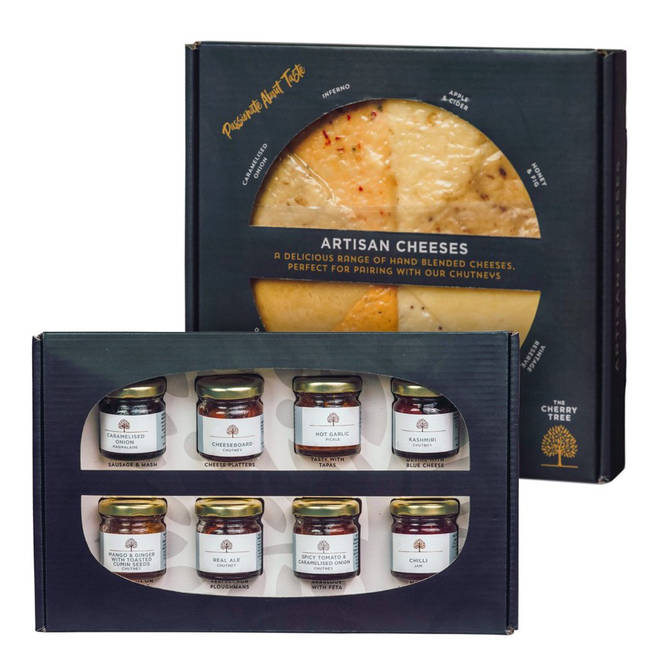 Eight chutneys and eight cheeses - what could be better?