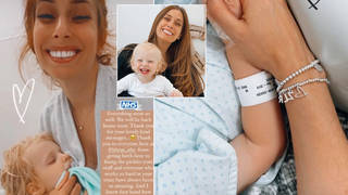 Stacey Solomon has updated fans on her son Rex's operation