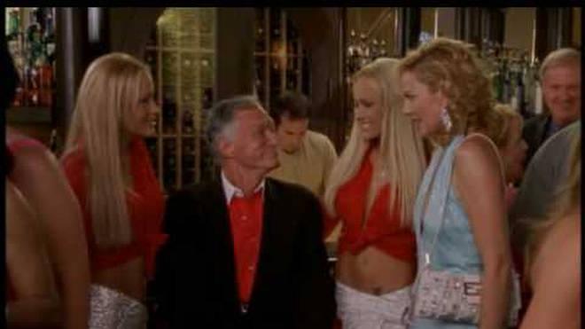 Hugh Hefner hosted the gang at the Playboy Mansion
