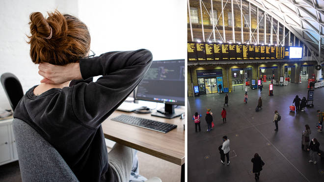 Many Brits have been working from home for over a year (stock image)