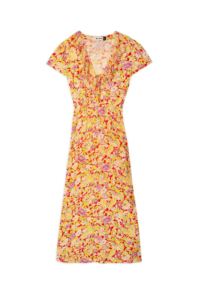 Holly Willoughby is wearing a dress from Rixo today on This Morning