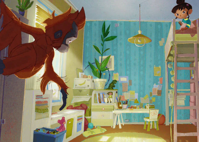 The advert tells the story of a little girl who discovers an Orangutan in her bedroom