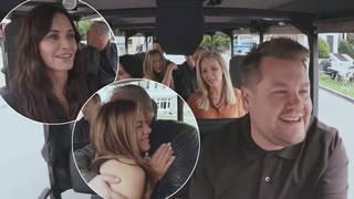 Friends joined James Corden for an impromptu Carpool Karaoke
