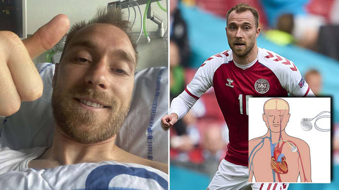 Christian Eriksen will have the device planted in his chest to help regulate his heart rhythm