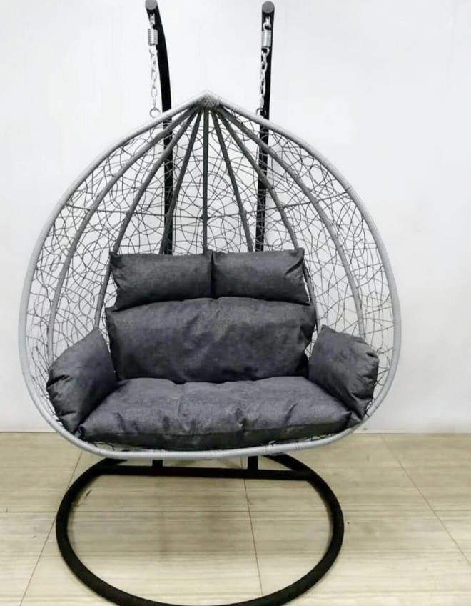 The double egg chair is a serious piece of kit