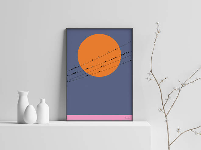 One of Christian Azolan's vibrant prints will bring a smile to dad's face