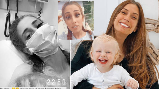 Stacey Solomon is back in the hospital with Rex