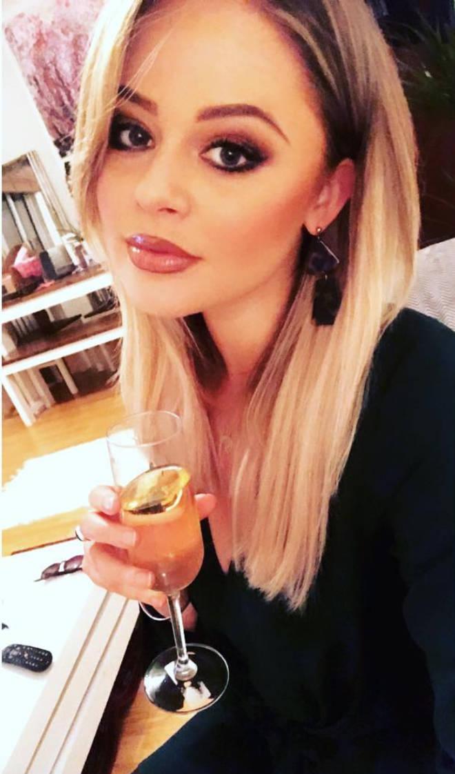 Emily Atack Instagram selfie