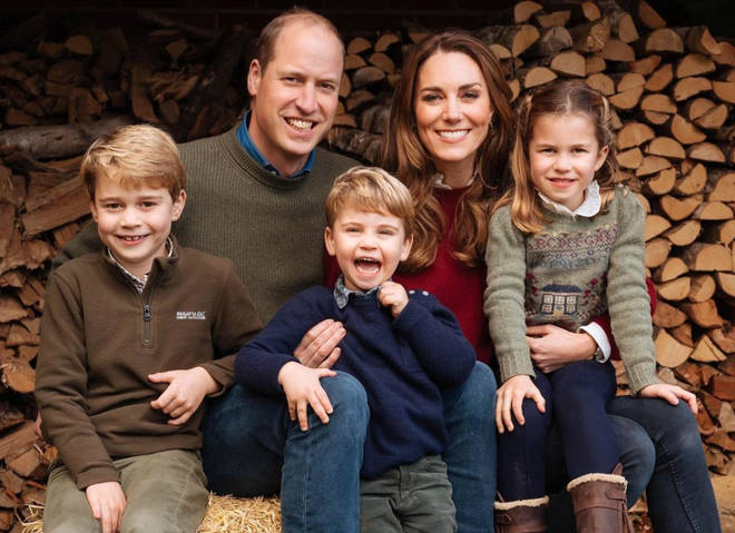 Kate has been seen wearing the necklace, which is a tribute to her three children, in the past