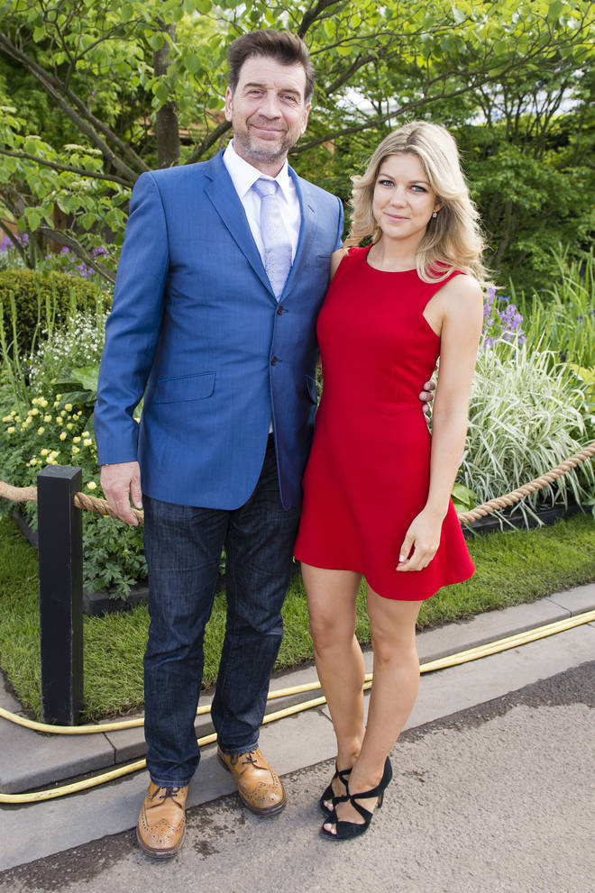 Nick Knowles and his ex-wife Jessica Moor pictured at the Chelsea Flower Show in 2016