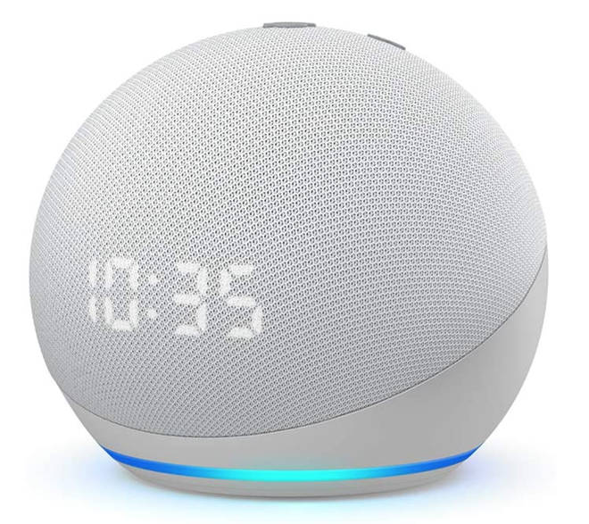 Amazon Echo Dot With Clock (4th Gen)
